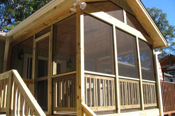 Rustic Screened in Porch with Removable Screens